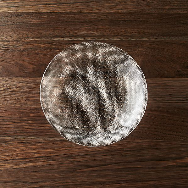 Cotton Clear Salad Plate