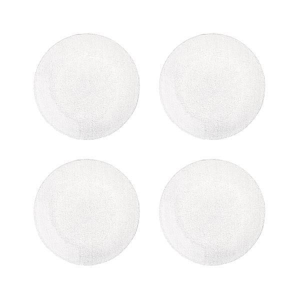 Set of 4 Cotton Clear Salad Plates