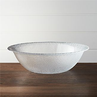Cotton Clear Serving Bowl