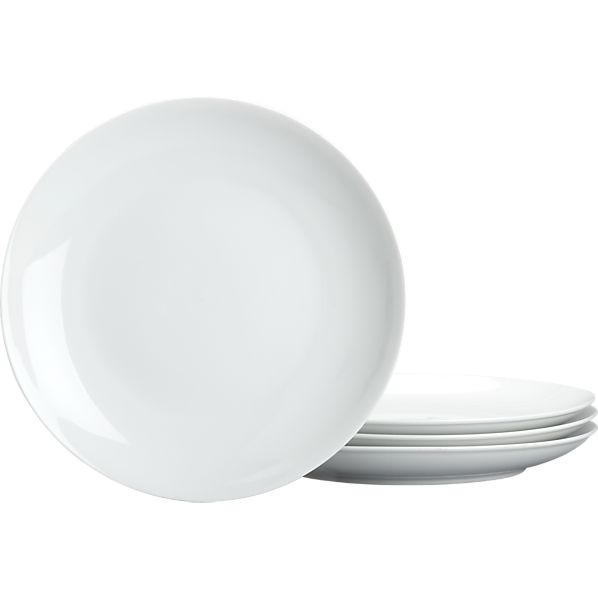 Set of 4 Coupe Dinner Plates