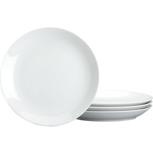 Set of 4 Coupe Salad Plates