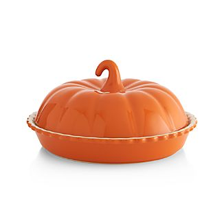 Covered Pumpkin Pie Dish