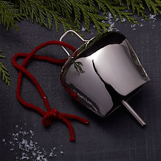 Silver Cowbell Ornament