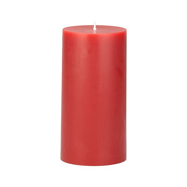 "Cranberry 3""x6"" Pillar Candle"
