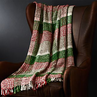 Cratchit Red/Green Plaid Throw