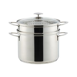 Crate and Barrel Stainless Cookware by Berndes 8 qt. Multi Cooker with Lid
