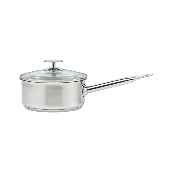 Stainless 2 qt. Sauce Pan by Berndes for Crate and Barrel