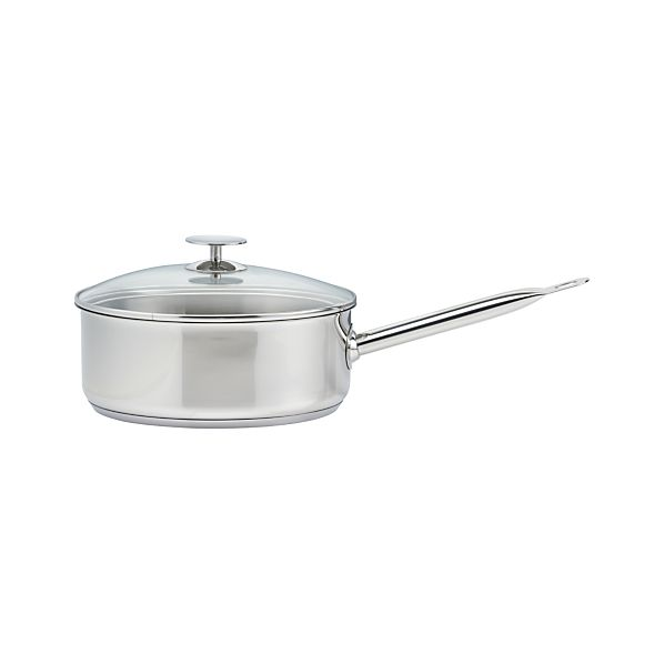 Stainless 4 qt. Sauce Pan by Berndes for Crate and Barrel