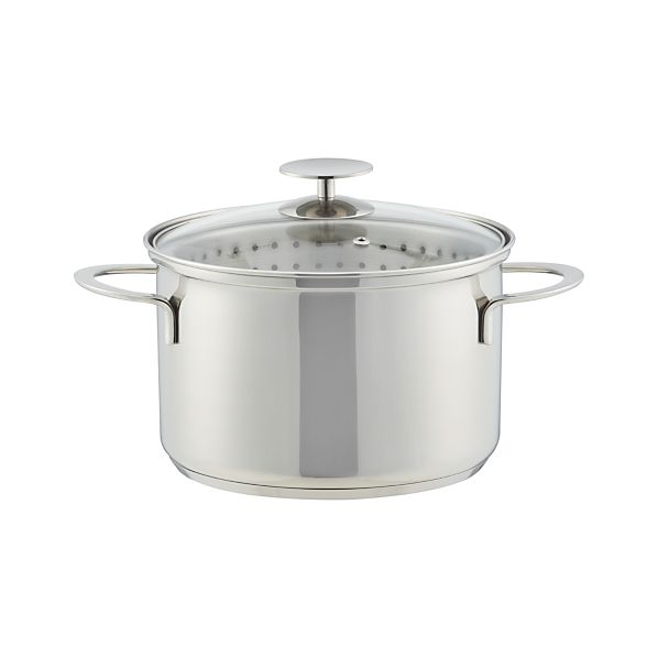 Crate and Barrel Stainless Cookware by Berndes 4 qt.  Vegetable Steamer