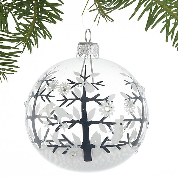 Creature Tree with Snowballs Ornament