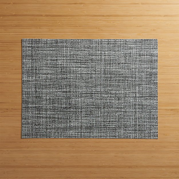 Chilewich 174 Crepe Grey Vinyl Placemat Crate And Barrel