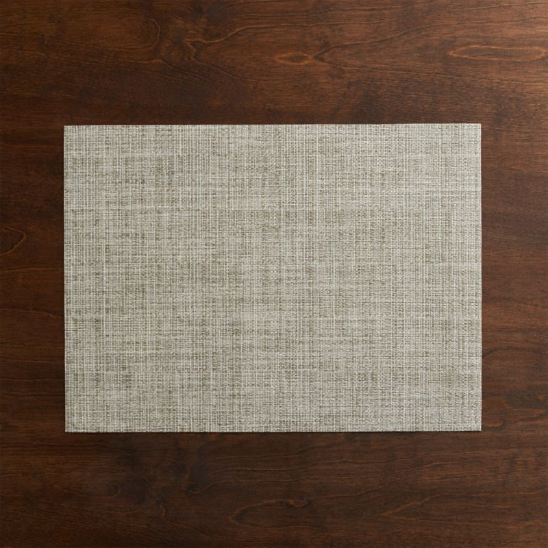 Our exclusive tonal weave of easy-care vinyl-polyester adds earthy neutrals to the indoor or outdoor table.<br /><br /><a href=/shop-by-brand/chilewich-placemats-doormats/1>View all Chilewich products</a><br /><br /><NEWTAG/><ul><li>100% woven vinyl</li><li>Clean with a damp cloth; air or towel dry and store flat</li><li>Made in USA</li></ul>