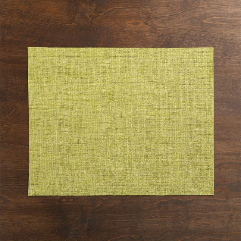 Tonal weave of easy-care vinyl adds a pop of textured color to the table.<br /><br /><NEWTAG/><ul><li>100% woven vinyl</li><li>Hand wash</li><li>Made in USA</li></ul>