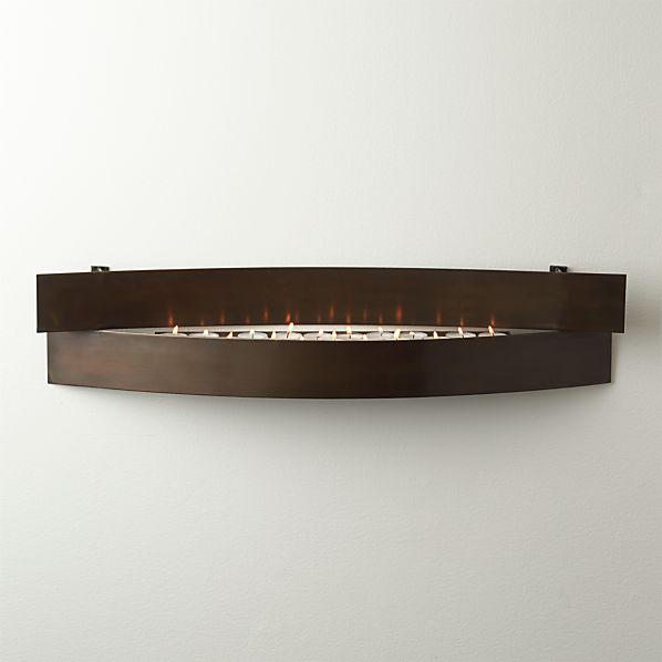 Crate And Barrel Outdoor Wall Decor : Crescent metal candle holder