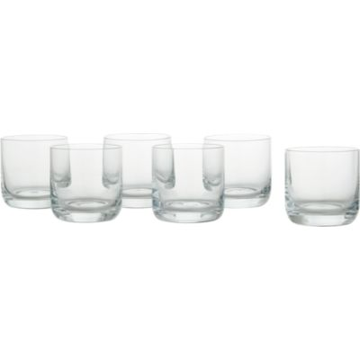 Set of 6 Crescent 10 oz. Double Old-Fashioned Glasses