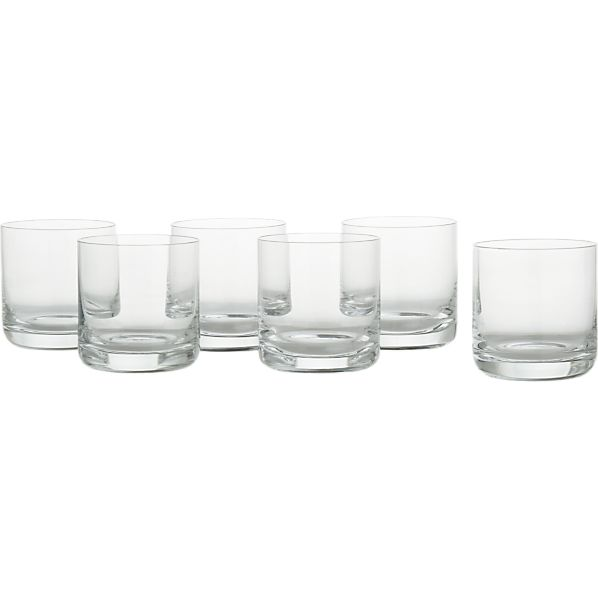Set of 6 Crescent 6 oz. Juice Glasses