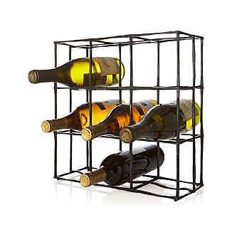 Crest 9-Bottle Wine Rack