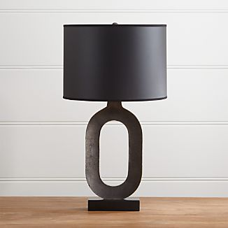 Crest Gold Table Lamp with Black Shade