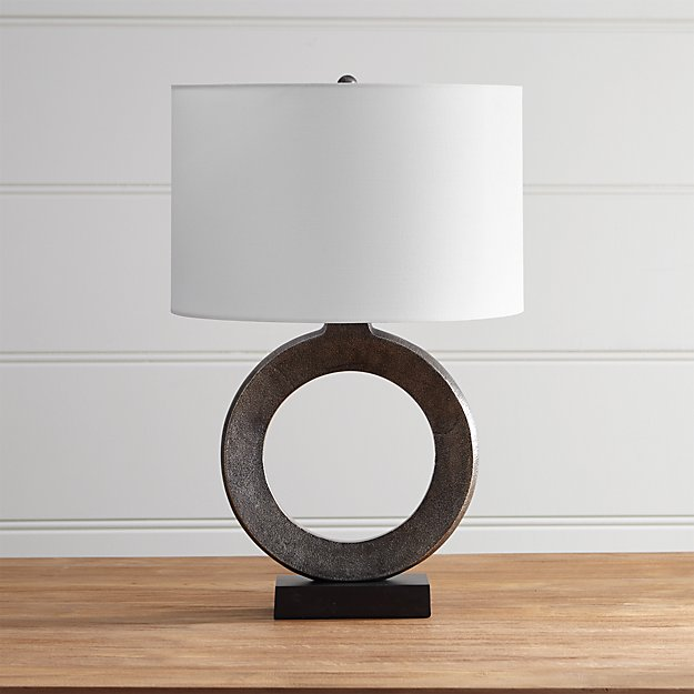 Crest Table Lamp With White Shade Crate And Barrel