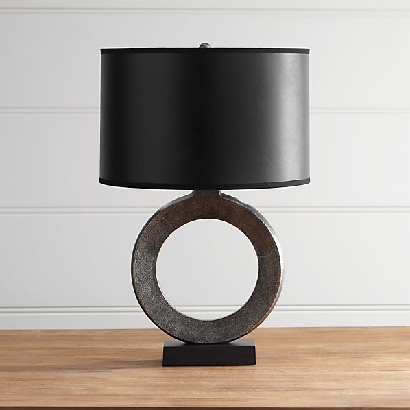 crest table lamp with black shade. Black Bedroom Furniture Sets. Home Design Ideas