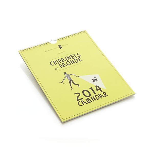 Criminels du Monde 2014 Calendar