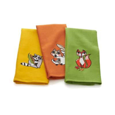 Set of 3 Critters Dishtowels