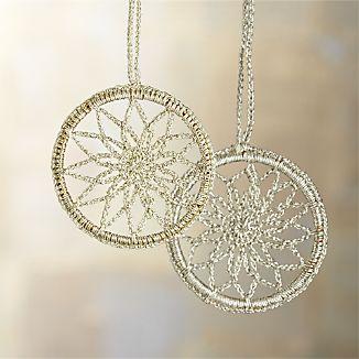 Crocheted Snowflake Ornaments