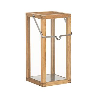 Crosby Small Teak Wood Lantern