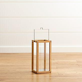 Crosby Small Teak Wood Lantern