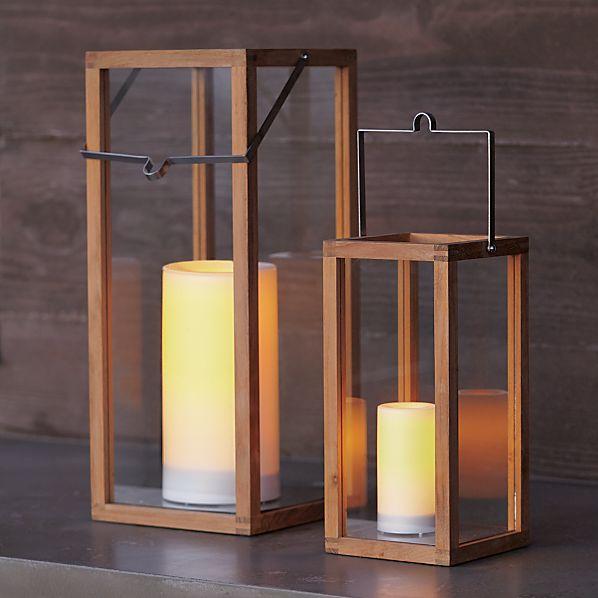 Crosby Teak Wood Lanterns