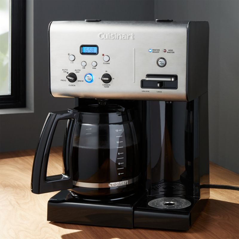 Best Hot And Cold Coffee Maker : Cuisinart Programmable 12 Cup Coffee Maker with Hot Water System Crate and Barrel