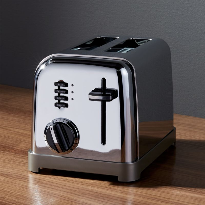 cuisinart classic 2 slice toaster crate and barrel. Black Bedroom Furniture Sets. Home Design Ideas