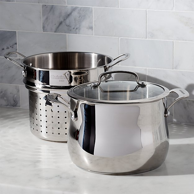 Cuisinart qt pc pasta pot with strainer crate and