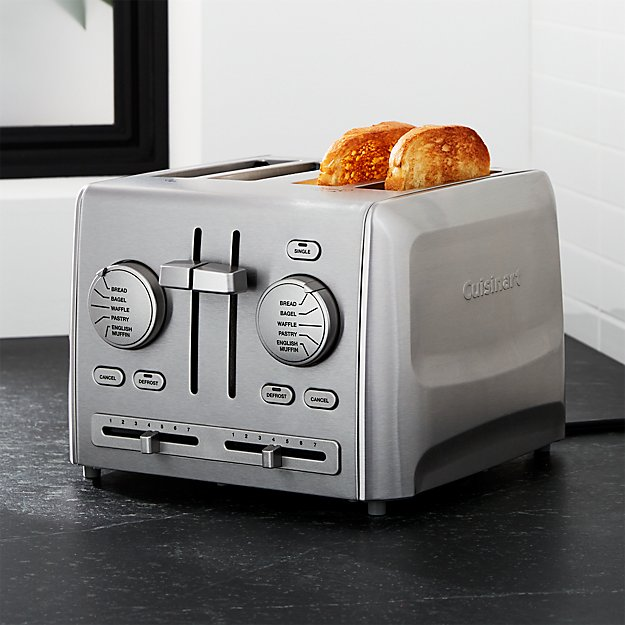 Cuisinart 174 Custom Select 4 Slice Toaster Crate And Barrel