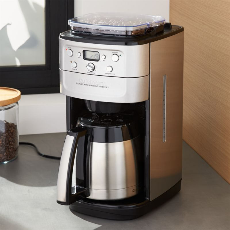 Coffee Maker With Grinder Reddit : Cuisinart Grind and Brew Thermal 12 Cup Coffee Maker Crate and Barrel