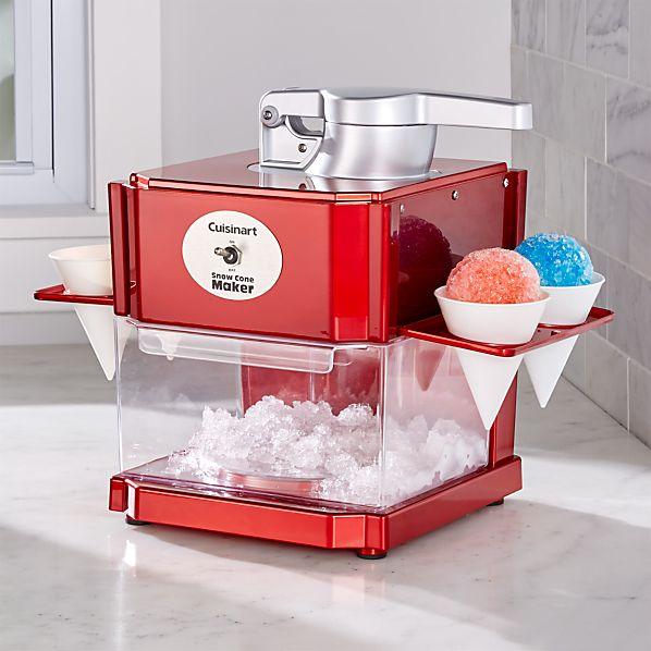 Waring ® Red Metallic Snow Cone Maker