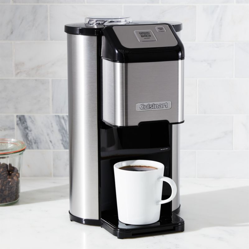 Coffee Maker That Makes One Cup At A Time : Cuisinart Single Cup Grind and Brew Coffee Maker Crate and Barrel