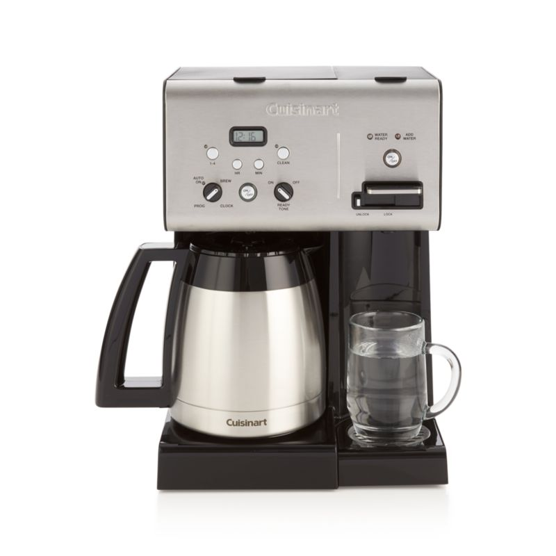 Cuisinart 10 Cup Coffee Maker With Hot Water System : Cuisinart Plus 10-Cup Programmable Coffee Maker plus Hot Water System Crate and Barrel