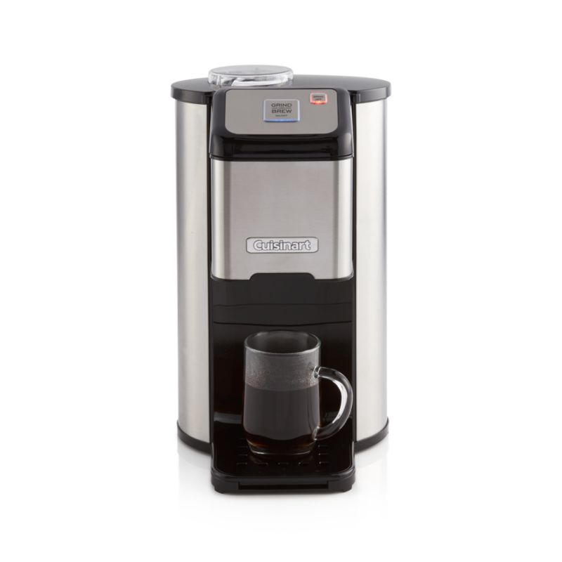 Single Cup Coffee Maker Uses Grounds : Cuisinart Single Cup Grind and Brew Coffee Maker Crate and Barrel