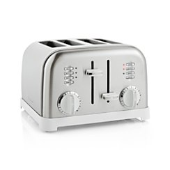 Cuisinart ® Classic 4-Slice White/Stainless Steel Toaster