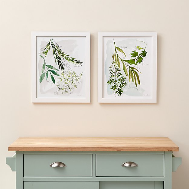 Set of 2 Culinary Herbs Prints