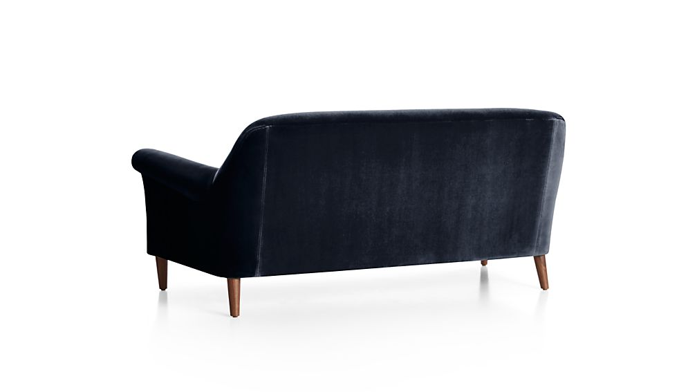 Cullen II Roll Arm Velvet Apartment Sofa