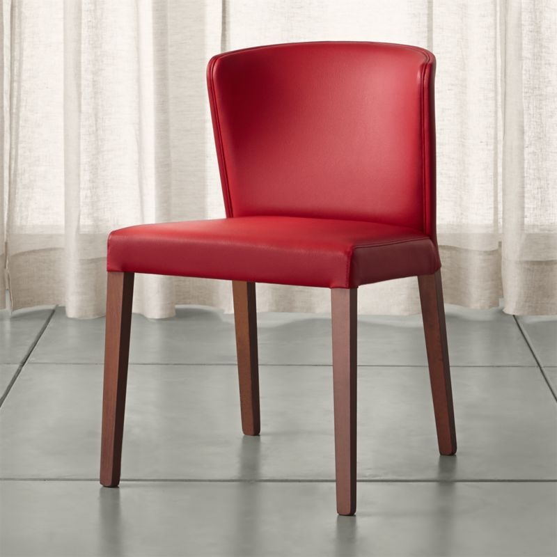 Crate And Barrel Dining Chairs: Curran Red Dining Chair