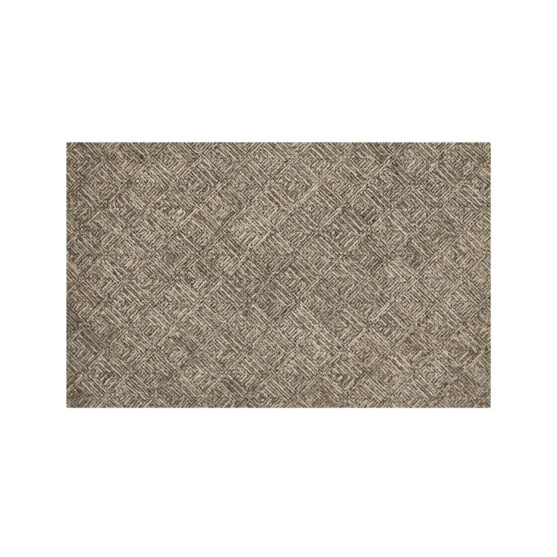 Curtis Flint Grey Wool-Blend 5'x8' Rug