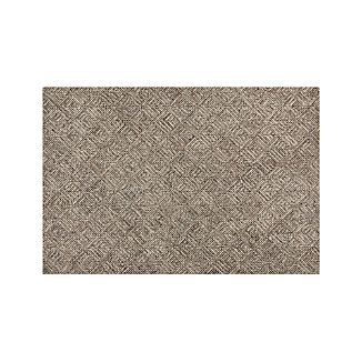 Curtis Flint Grey Wool-Blend 6'x9' Rug