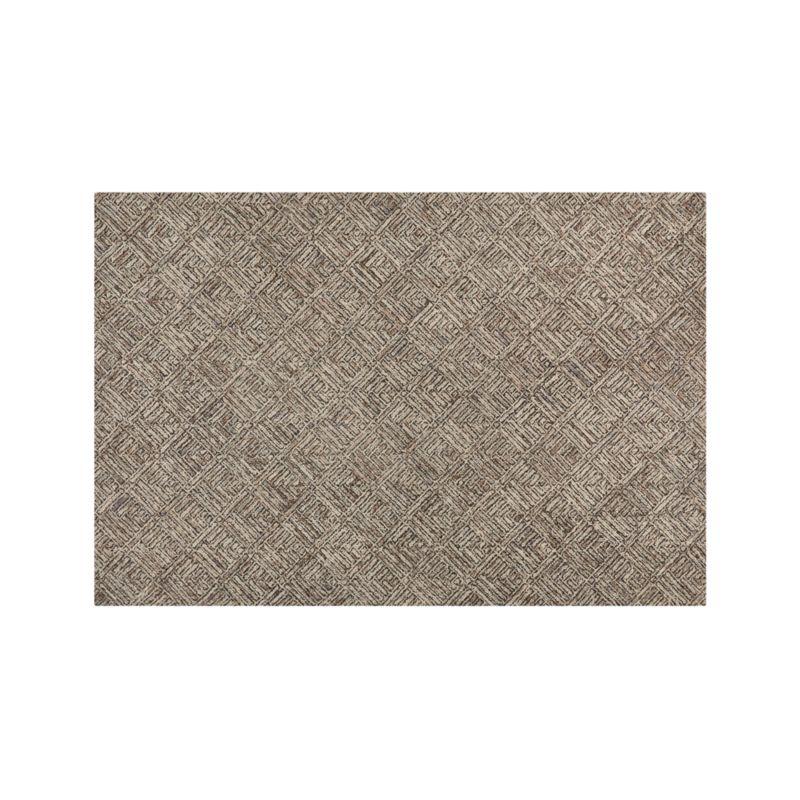 Curtis Flint Grey Wool-Blend 6'x9' Rug