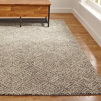 Curtis Flint Grey Wool-Blend Rug