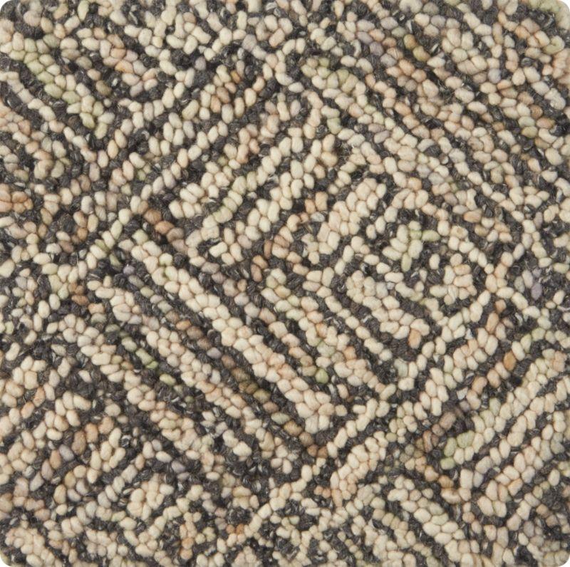 """Curtis Flint Grey Wool-Blend 12"""" sq. Rug Swatch"""