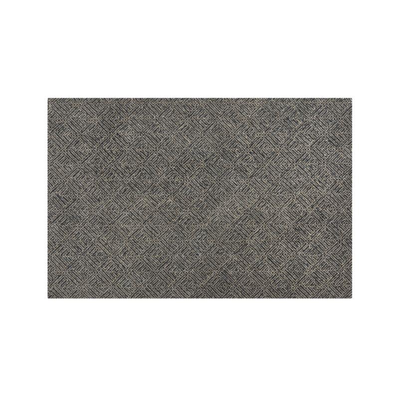 Curtis Indigo Blue Wool-Blend 6'x9' Rug
