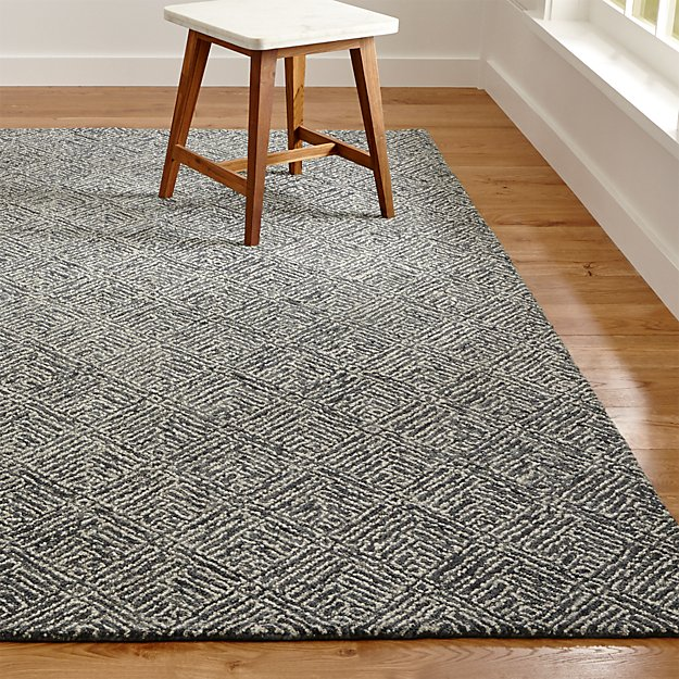 Curtis Indigo Blue Wool Blend Rug Crate And Barrel